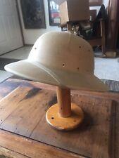 Military Issue Amer. Army Captain Tropical Pith Helmet SunRigid Fibre 1960s