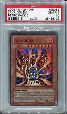 PSA 10 GEM MINT Yugioh LAVA GOLEM RP02-EN082 Super Rare Foil Card