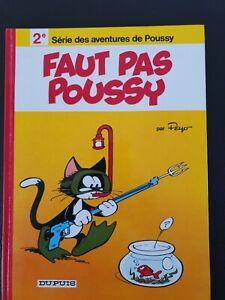 Bande dessinée BD EO 1977 Tome 2 Poussy NEUF - Peyo -  spirou tintin asterix
