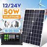 50w Pannello Solare 10/20/30a 12/24v Auto Lcd Pwm Regolatore Fotovoltaico Carica
