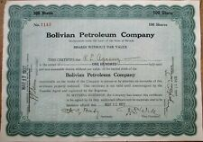 Bolivian Petroleum Co. 1927 Stock Certificate - Bolivia - Nevada Oil
