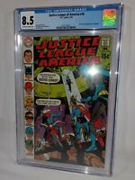 1970 Justice League of America #78 ~CGC 8.5~FIRST SILVER AGE VIGILANTE~NICE COPY