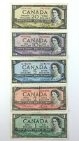 Lot of Canadian 1954 Banknotes 38 Dollars Face Value Circulated Canada S917