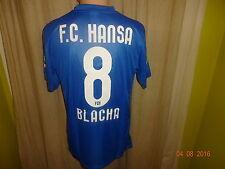 Fc hansa rostock original nike benéfico matchworn camiseta 13/14 + nº 8 Blacha talla m