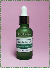 25 ML EUCALYPTUS NATURAL ESSENTIAL OIL IN 30 ML GREEN GLASS BOTTLE GLASS PIPETTE