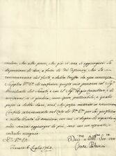 Lettera Autografo Conte Pallavicini Truffa Sig. Mambrini Affari in Mantova 1765