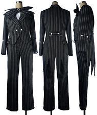 Nightmare Before Christmas Jack Skellington Suit Outft Full Set Cosplay Costume Men Medium