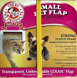 "Ideal Pet Products Cat Flap Small Cat/Dog Door (6 1/4"" x 6 1/4"") White  NIB"
