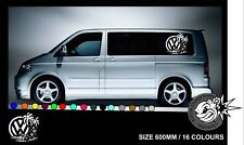 Vw Van Hibiscus Transporter Camper vag Caravelle Graphics Decals Stickers T4 T5