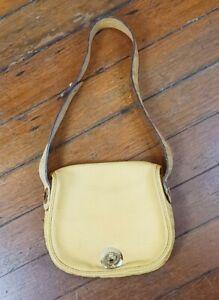 Carolina Herrera Tan Leather Bag Pouch Purse Handbag USED VERY NICE