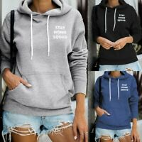 Women's Hoodie Sweatshirt Hooded Sweater Coat Pullover Long Sleeve Jumper Tops P
