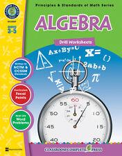 Algebra - Drill Sheets, Grades 3-5 MATH - DOWNLOAD