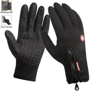 Windproof Touch Screen Gloves Winter Warm Gloves Waterproof Thermal Full Finger