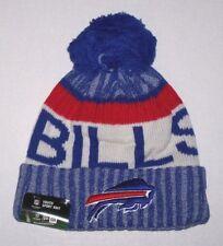 81e31f612c5 Nwt New Buffalo Bills Logo Football Beanie Cap Hat Roll Cuff PomPom Blue  Youth