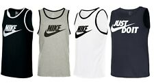 Nike Mens Vest Top Logo Sports Gym Active Wear Tank Top T shirt New With Tags