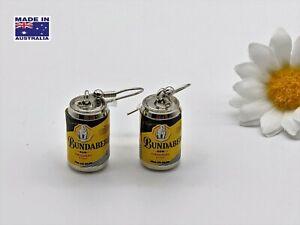Mini 3D Bundaberg Original Rum & Cola Style Can Drop Earrings Dress Accessory
