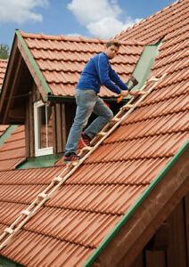 Holz-Dachleiter Mod. S11101 - Sprossenzahl: 18, Länge: 5,05 m