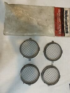 Ford Nos Tc Cortina Hinged Mesh Headlight Covers Motorcraft Xle