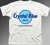 Breaking Bad Crystal Blue Meth Heisenberg Jesse white t-shirt 9636