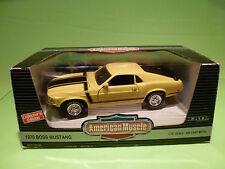 ERTL AMERICAN MUSCLE 7484 FORD MUSTANG BOSS 302 1970 -YELLOW 1:18 - NMIB