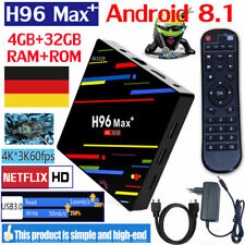 H96MAX Plus+ 4GB+64GB Android 8.1 Smart TV Box 4K HDR10+ Quad Core 5G WiFi f