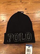 Ralph Lauren Polo Winter Beenie Ski Hat - Black NWT