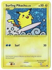 Surfing Pikachu - 114/111 - M/NM - Secret Rare Holo - Rising Rivals - Pokemon