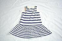 Gymboree Hop 'n' Roll Striped Tank Dress Navy Stripe size 4 cotton Nwt