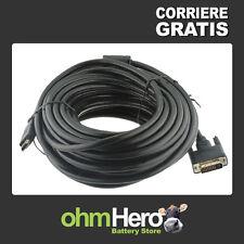 Cavo video [ HDMI A maschio > DVI D 24+1 maschio ] 15 metri DUAL LINK -nero HDTV