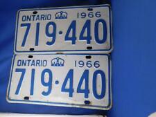 ONTARIO LICENSE PLATE 1966 719 440  LOT PAIR SET CANADA VINTAGE CROWN SHOP SIGN