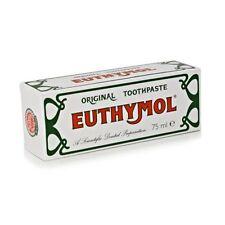 3 X 75ml Euthymol Original Toothpaste Brand of Antiseptic , Fluoride - Free New