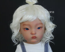 """QQ-57D BJD Doll Synthetic mohair Wig  Milk White color  ; 6-7"""" ;7-8"""";8-9"""""""