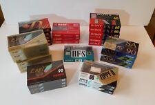 Lot 31 Cassettes Vierges - 60 90 min - type I II - TDK SONY DENON EXEL BASF - K7