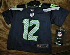 Seattle Seahawks FAN #12 jersey CHILD 12 MONTHS NEW with Tags AUTHENTIC NFL BLUE