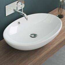 doporro Keramik Waschbecken Waschschale Aufsatzwaschbecken Waschtisch inkl. Nano