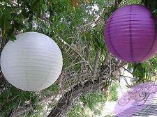 6x 20cm white purple paper lanterns engagement wedding party hanging decoration