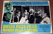 Dino QUESTO PAZZO PAZZO MONDO DELLA CANZONE fotobusta originale 1965 #8