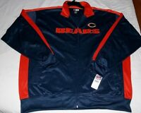 Chicago Bears Track Jacket Full Zip Navy NFL Team Apparel Embroidered Logos New