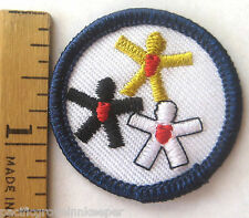 Girl Scout 1986-2000 Junior EXPLORE Badge HEALTHY LIVING Heart Health Patch