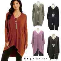 BRYN WALKER  Bamboo Cotton Jersey ALEXIS TUNIC Long Top  XS S M L XL  4 COLORS