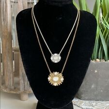 Lucky Brand Layered Two Tone Necklace in Silver/Gold tone