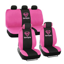 Warner Brothers Offical Supergirl Seat Covers for Car - Micro Fit  Full Set