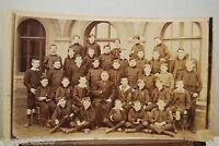 Photo Antique Finxixe Debxxe School Of Boys Gelatino-Bromure Uniforms Cure