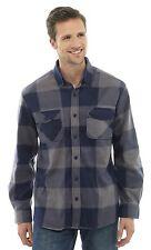 Storm Ridge Mens Check Long Sleeve Fleece Shirt