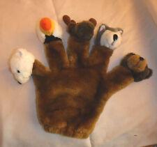 Hand Finger Puppet Bear Moose Wolf Plush Soft Toy Stuffed Animal