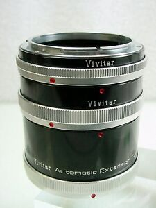 Vivitar For Canon 12,20,36mm AT-4 FL-FD Breech Lock | Tested | Vry Nice | $18 |
