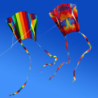 Free shipping NEW pack 2 Colorful Parafoil Kite Outdoor Soft Kite Toys for kids