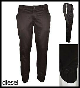 diesel pantaloni con elastico alla caviglia donna eleganti vita bassa tuta 26 27