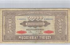 Pologne 50 000 Marek 10.10.1922 n° X 6963312 Pick 33