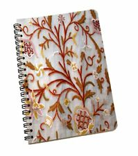 Softcover Notebook Floral White Work Notes Journals Writing Book For Students